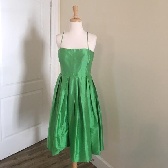 997bed55c59 Lauren Ralph Lauren Dresses   Skirts - Kelly Green Silk Dress by Lauren  Ralph Lauren
