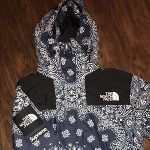 Supreme Jackets Amp Coats The North Face X Blue Bandana