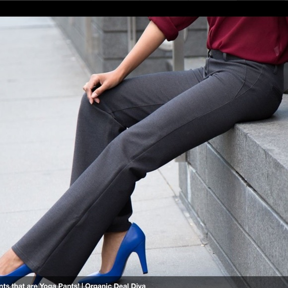 Betabrand Dress Or Yoga Pants In Grey From