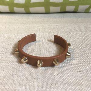 Studded leather bangle