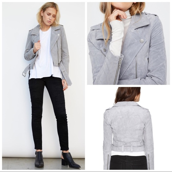 ea439a6af3 Blank NYC Jackets & Coats | Blanknyc Morning Suede Moto Jacket Gray ...