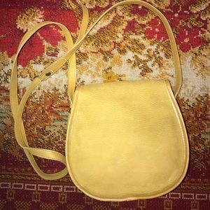 Vintage Bags - NWOT VTG 100% TOOLED MUSTARD LEATHER FRINGE BAG