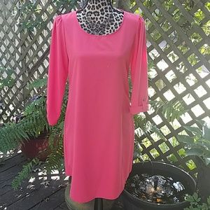 Dresses & Skirts - Coral 3/4 roll sleeve dress
