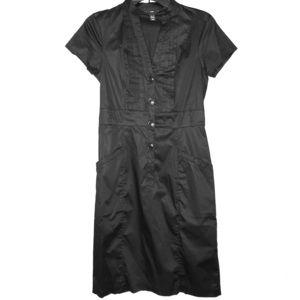 H &M button down black dress.
