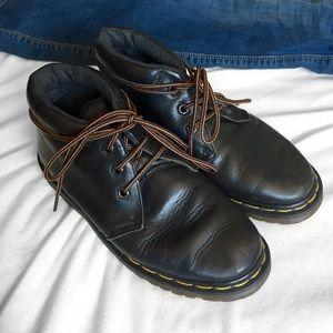 Vintage Dr. Martens Black Leather Ankle Boots