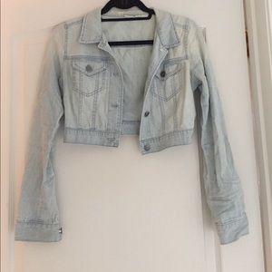 bp Jackets & Blazers - Cropped Denim Jacket