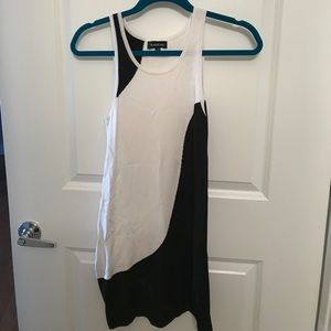 Bebe black and white dress - Small