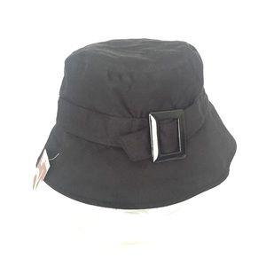 NWT black bucket hat