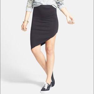 RVCA Dresses & Skirts - RVCA Asymmetrical Black Fitted Mini Skirt