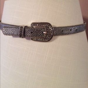 Cache silver leather belt