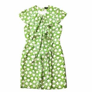 NWT Andrew Marc printed ruffle front dress