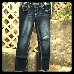 Denim - Arita blue faded/bling design jeans soft denim