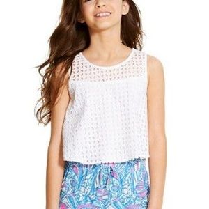 Lilly Pulitzer for Target white top girl size LRG