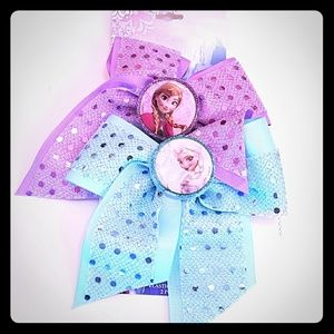 Disney Other - NWT Disney 2 Hair Bows Elastic Frozen Anna Elsa