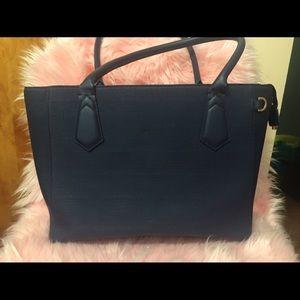 Dagne Dover Handbags - THE 13-INCH TOTE - MIDNIGHT BLUE