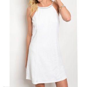 Dresses & Skirts - White sequin halter dress