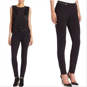 Rebecca Taylor Zip Black Stretch Twill Pants