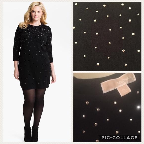 ae3a9249921 Michael Kors Studded Sweater Dress. M 59503892291a354f9405a1ca