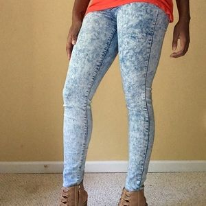 River Island Denim - River Island Acid Wash Skinny Jeans