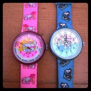 Swatch Accessories - Flik Flak vintage Swatch watches for kids