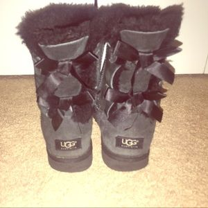 Black Ugg Bailey Bow Boots