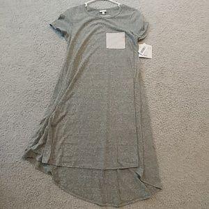 Lularoe Carly Dress grayish/green size XXSw/pocket