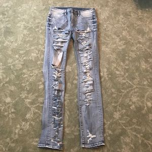 Blank Light Blue Ripped Jeans Size 27