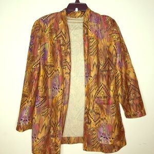 Jackets & Blazers - Multi colored printed blazer.