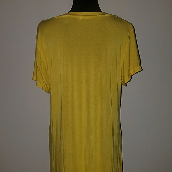 60 Off Tops 2xl Yellow V Neck Comfy Tee Shirt From