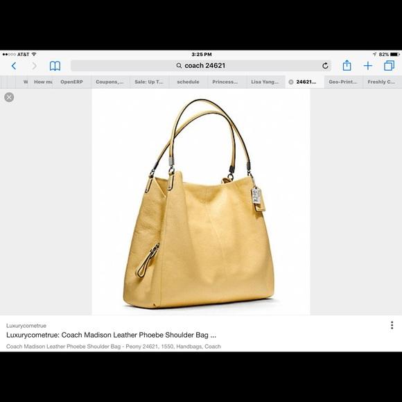 b68cbe3497 Coach Handbags - Coach Madison phoebe leather handbag yellow color