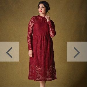 Simply Be Midi dress long lace sleeves