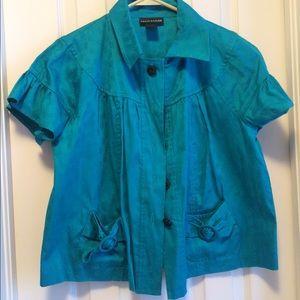 Molly & Maxx Teal Petite Jacket Size Medium NWOT