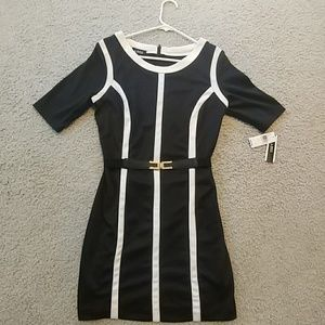 Black and white A.Byer belted dress size 9