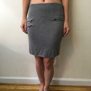 3.1 Phillip Lim Dresses & Skirts - 3.1 Phillip Lim Grey Cotton Zipper Detail Skirt