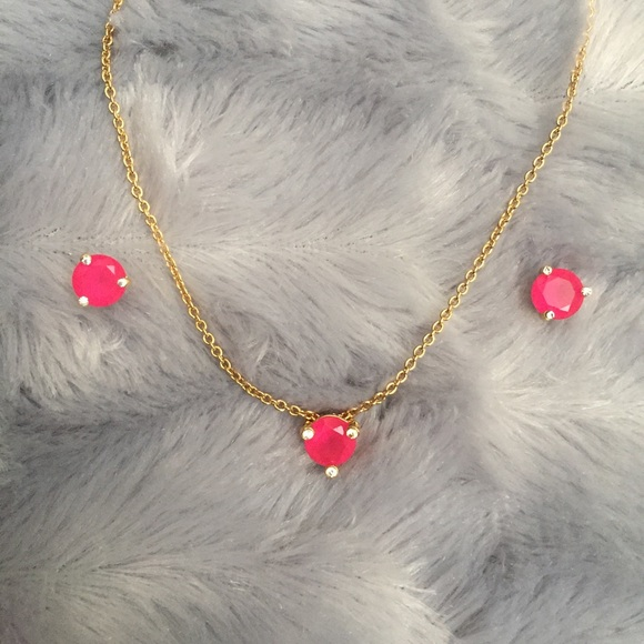 53 off kate spade jewelry kate spade hot pink necklace