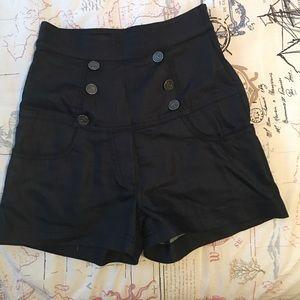 custom Pants - High waisted sailor pinup shorts
