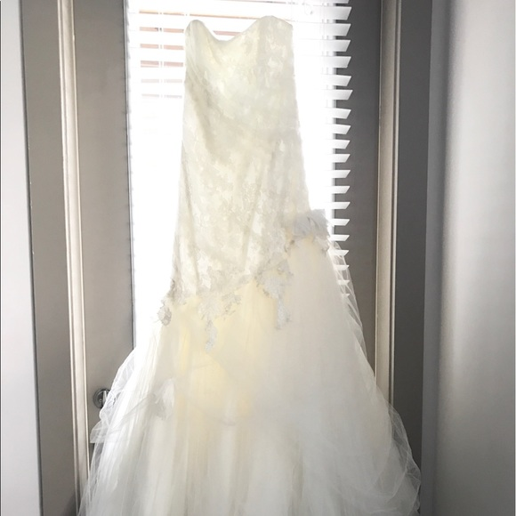 Marisa Dresses | Lace Tulle Mermaid Wedding Gown Size 12 | Poshmark