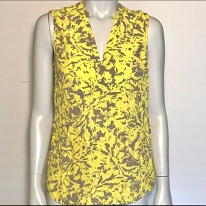 {banana republic} yellow and gray sleeveless top
