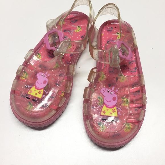 2bd0133d3148 Peppa Pig Jelly Sandals Sz 8. M 5950436a56b2d6cd6902073a