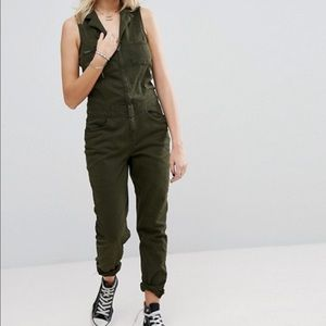 Asos Pants - Superdry Sleeveless Utility Jumpsuit