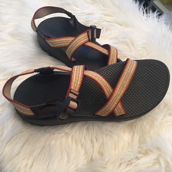 f3217b0fdea2 Chaco Shoes - Chaco Z 1 Sandals Red Orange Yellow Chacos W10