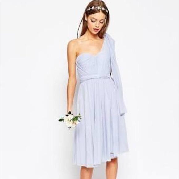 a27a6eecc4f ASOS Dresses   Skirts - ASOS WEDDING Multiway Mesh Midi Dress
