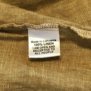 FLAX Yarn Dyed Linen Floods Crop Pant Small