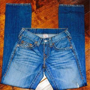 True Religion Multi Stitched Straight Leg Jean