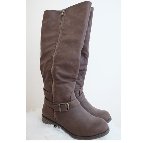 justfab justfab boots never worn just about knee high