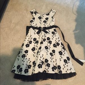 Sweet Heart Rose Other - Black and White Floral Dress