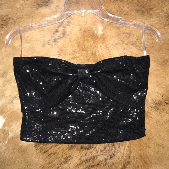 a224fedf430 Black Sparkly Tube Top. M 595049d9a88e7d8894021bdf