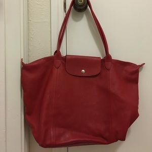 Longchamp Handbags - Longchamp Le Pliage Cuir Tote
