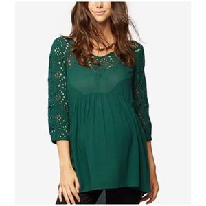 A Pea in the Pod Tops - A Pea in The Pod Maternity Eyelet Babydoll Top