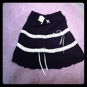 Black Orchid Dresses & Skirts - Black with white accents punk skirt